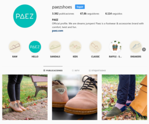 Ejemplo Instagram Retail