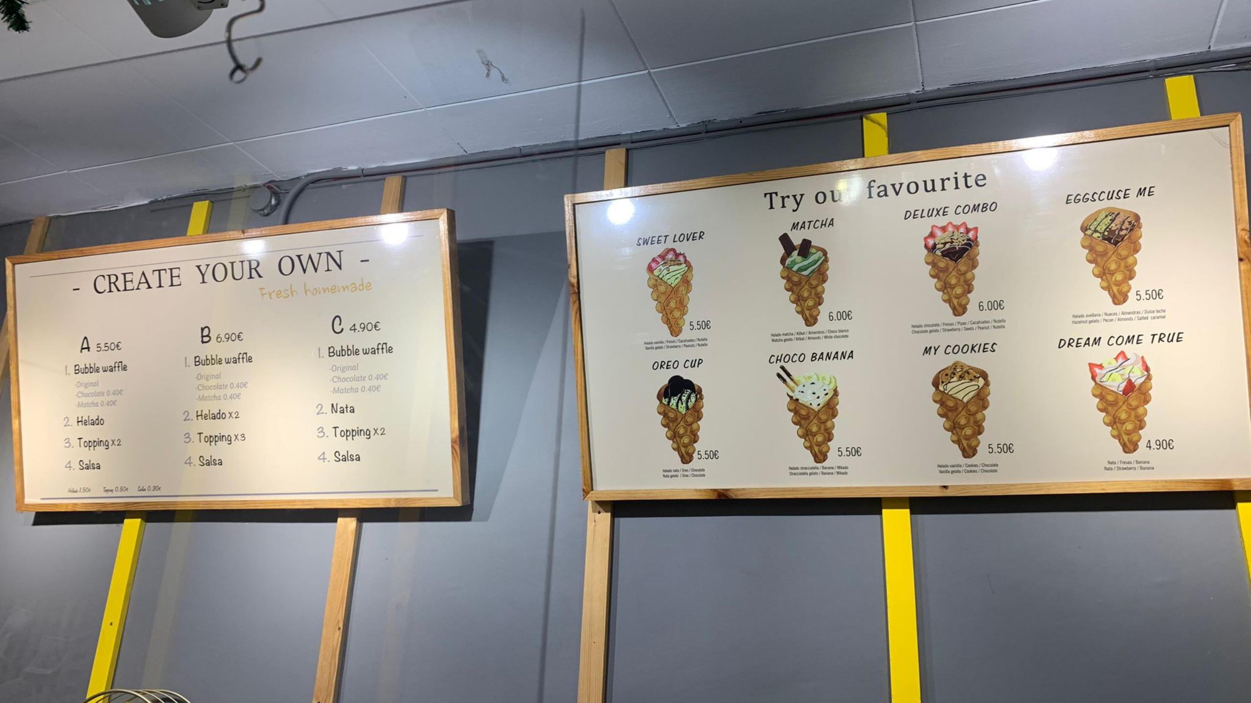 Bubbwrap, la tendencia de los Bubble Waffle o Gofres de Burbujas en Barcelona