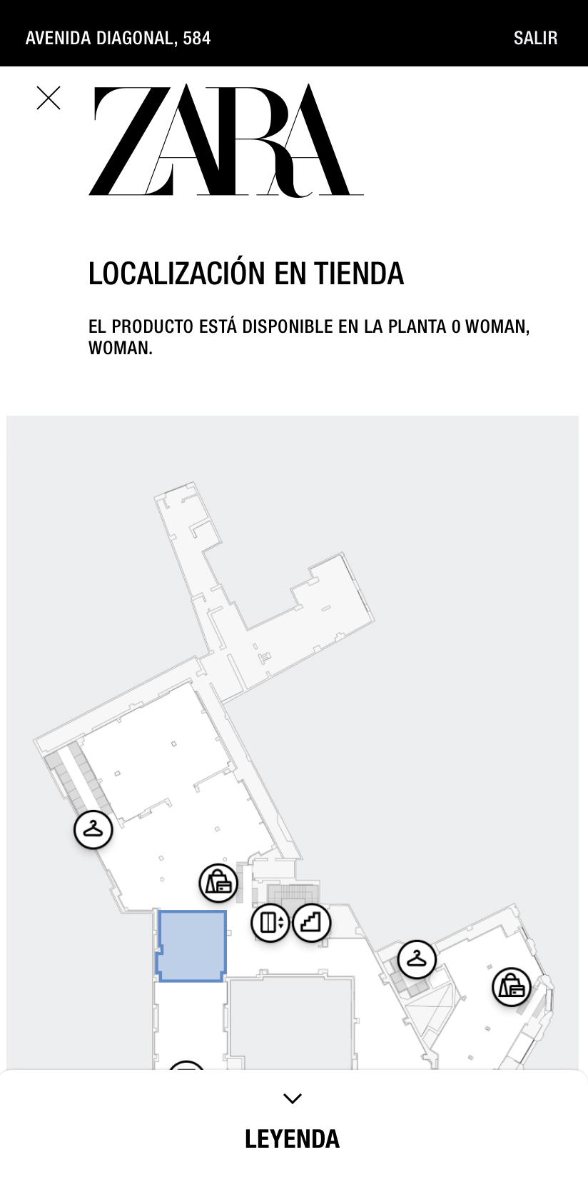 modo tienda mapa Zara