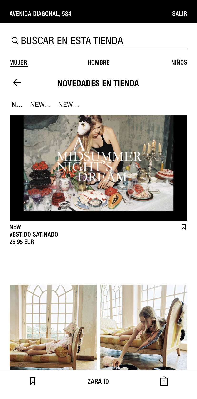 novedades modo tienda Zara